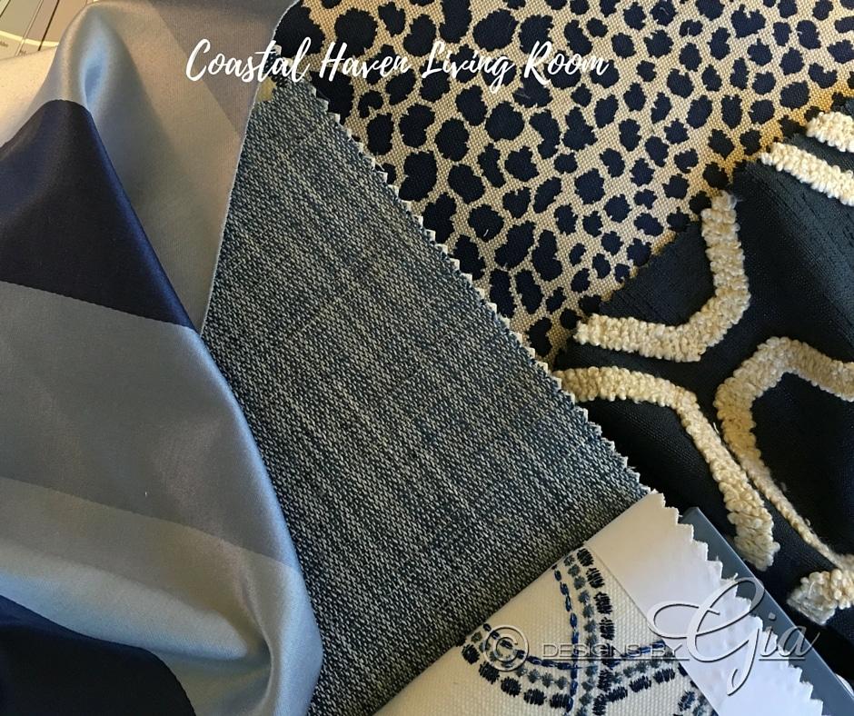 Choosing Fabrics- Coastal Haven Show House