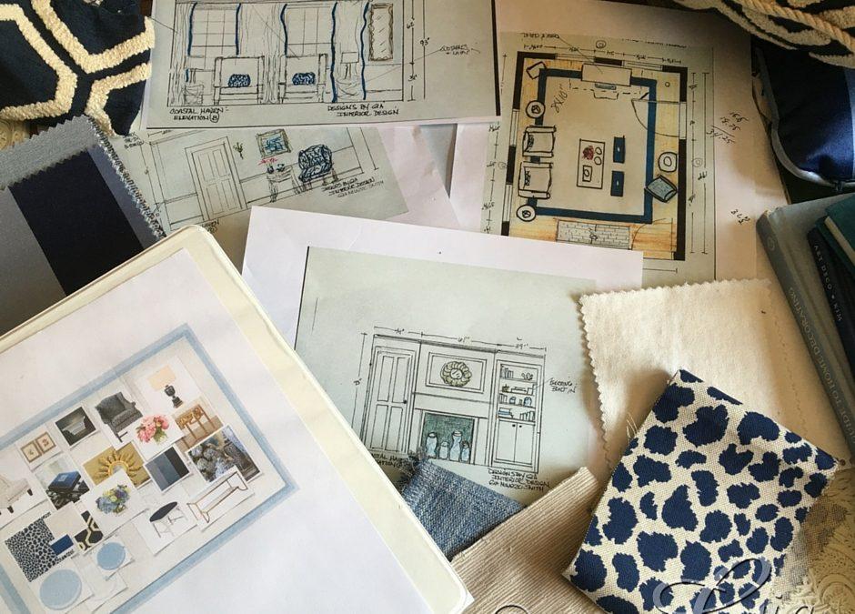Choosing Furnishings- Coastal Haven Designer Show house- Living Room