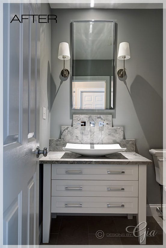 """Featured Project- Half Bath - """"after"""""""