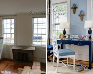 Before/After- Designer show house room